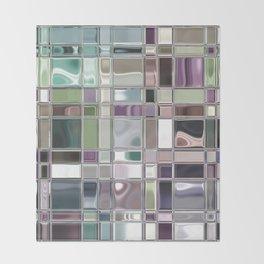 Sage and Mauve Mosaic Tile Art Throw Blanket