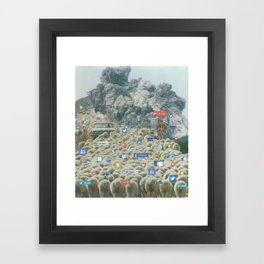 Counting Tweets Framed Art Print