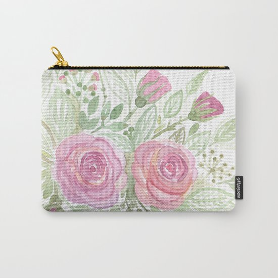 Watercolor . A bouquet of roses . Carry-All Pouch