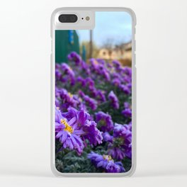 Village flowers Clear iPhone Case
