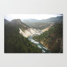 Carved River Canvas Print