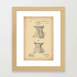 1908 Patent Corset Framed Art Print