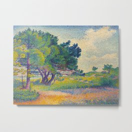 Small House at Saint Clair 1894 Henri-Edmond Cross Neo-Impressionism Pointillism Oil Painting Metal Print
