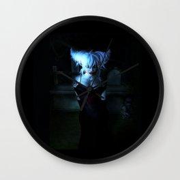 Blue Vamp Wall Clock