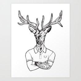 bambi's a grown up now  Black Art Print