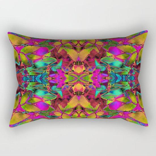 Fractal Floral Abstract G285 Rectangular Pillow