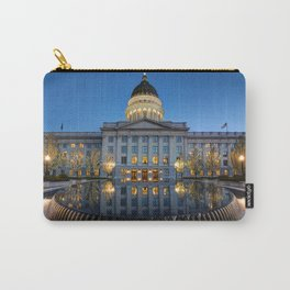 Utah State Capitol in Reflecting Fountain at Sunset Carry-All Pouch