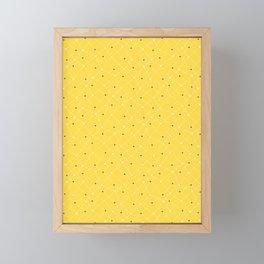 Chemistry Class Doodles - Yellow Framed Mini Art Print