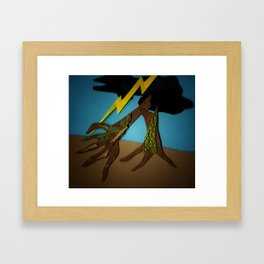 The Hands-Down Tree Framed Art Print