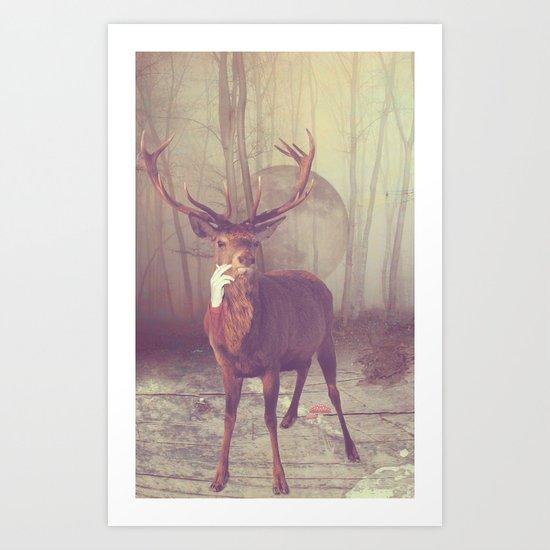 Fairy tale : deer Art Print