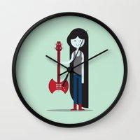 marceline Wall Clocks featuring Marceline Illustration by Matt Dunne