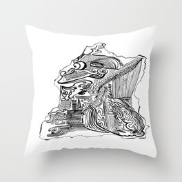 Encre de Chine 2009 Throw Pillow