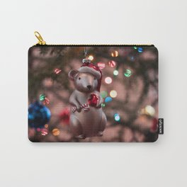 Christmas Mouse Photography Print Carry-All Pouch