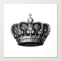 crown Canvas Prints featuring crown by AleDan