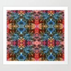 Oil Pastel Pattern Art Print