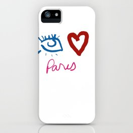 Eye Heart Paris iPhone Case
