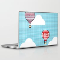 hot air balloons Laptop & iPad Skins featuring Cozy Hot Air Balloons by The Wellington Boot