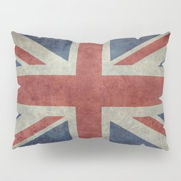 England's Union Jack flag of the United Kingdom - Vintage 1:2 scale version Pillow Sham