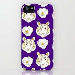 LSU purple iPhone Case