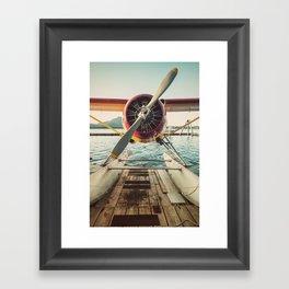 Seaplane Dock Framed Art Print