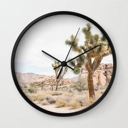 joshua tree boho cactus desert wall art landscape photography print Wall Clock