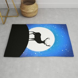 Deer and Moon Rug