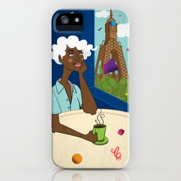 Coffee in the Boulevard iPhone Case
