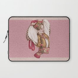 Slavic Beauty in Hucul clothing Laptop Sleeve