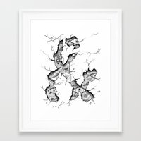 ampersand Framed Art Prints featuring ampersand by Squidfeathers
