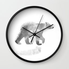 graphic bear III Wall Clock