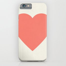 Coral Heart iPhone Case