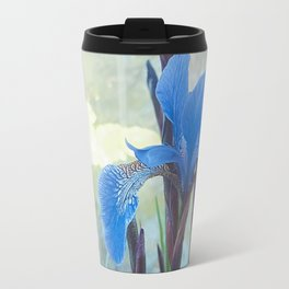 Blue Iris, The Dancing Spirit Of Early Summer Travel Mug