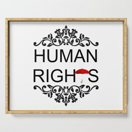 Human Rights Serving Tray