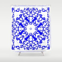 CA Fanatsy Blue series #6 Shower Curtain