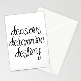 Inspirational Wall Art - Decisions Determine Destiny - Motivational Quote Wall Decor Stationery Cards
