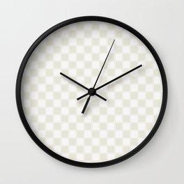 White Checkers Wall Clock