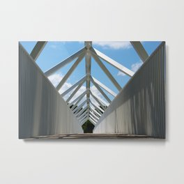 The #bridge in Plessiville Metal Print