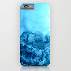INTO ETERNITY, TURQUOISE Colorful Aqua Blue Watercolor Painting Abstract Art Floral Landscape Nature Slim Case iPhone 6