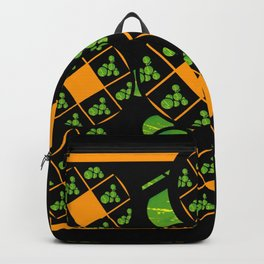 Orange and Green Spaces 100 Backpack