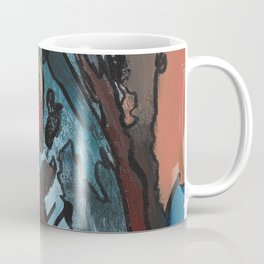 Over the Bluff Abstract Landscape Painting Coffee Mug