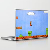 mario bros Laptop & iPad Skins featuring Super Mario Bros. by Theodore Parks