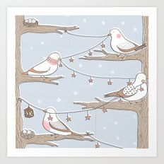 Birdies Art Print