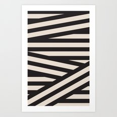 black or white Art Print