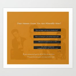 The Smiths Lyrics Heaven Knows I'm Miserable Now Art Print