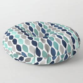 Oval Stripes Aqua and Navy Floor Pillow
