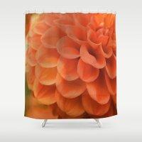 dahlia Shower Curtains featuring Dahlia by Melissa Lund