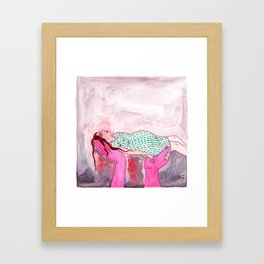 Pink Hands Framed Art Print