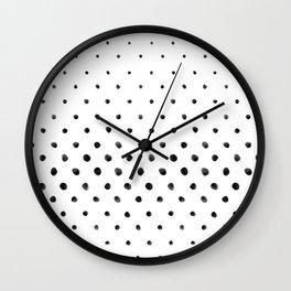 Dottie - black on white Wall Clock