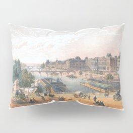 Paris art print Paris Decor office decoration vintage decor LE LOUVRE of Paris Pillow Sham