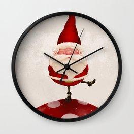 Gnome on fungus Wall Clock